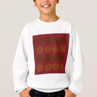 Design  flowers ethno brown sweatshirt