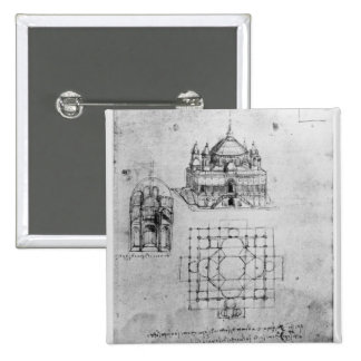 Design for a church, fol. 4r 15 cm square badge