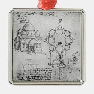 Design for a church, fol. 4r christmas tree ornaments