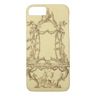 Design for a Console Table (pen & ink wash) iPhone 8/7 Case