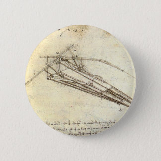 Design for a flying machine. 6 cm round badge