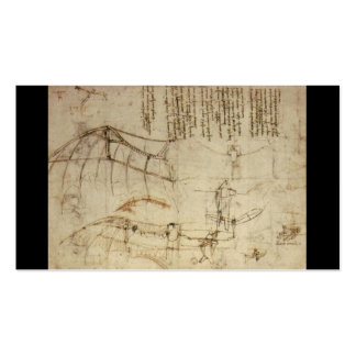 Design for a Flying Machine by Leonardo Da Vinci Business Cards