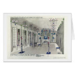 Design for a Music Room with panels by Margaret Ma Greeting Card