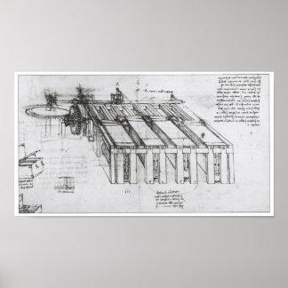 Design for a Shearing Machine, Leonardo da Vinci Poster