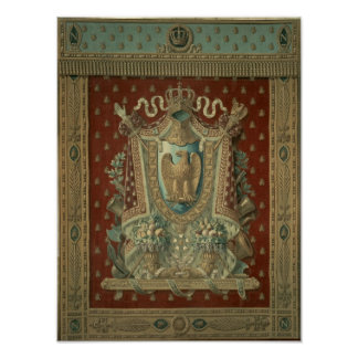 Design for a tapestry in Bonaparte's study Poster