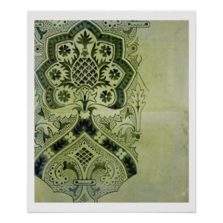 Design for an Ecclesiastical wallpaper print (ink