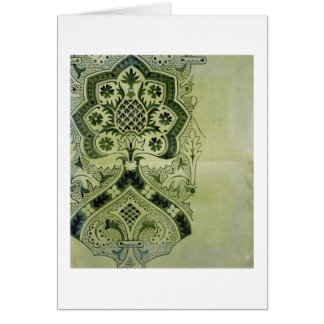 Design for an Ecclesiastical wallpaper print (ink Card