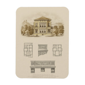 Design for an Estate with Interior Plans Rectangular Photo Magnet