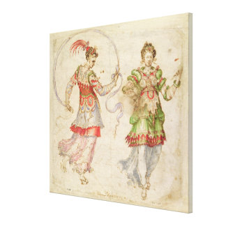 Design for Costumes, probably in the Florentine In Stretched Canvas Print