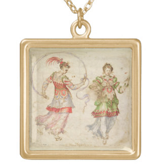 Design for Costumes, probably in the Florentine In Custom Jewelry