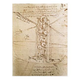 Design for Flying Machine Postcard