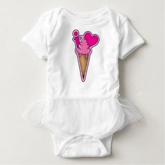 """Design for ice cream lovers - """"I love ice cream"""" Baby Bodysuit"""