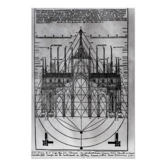Design for Milan Cathedral Poster