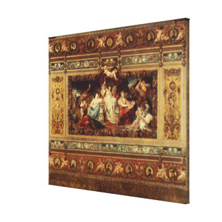 Design for the curtain at the Dresden opera Canvas Print