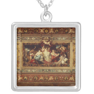 Design for the curtain at the Dresden opera Silver Plated Necklace