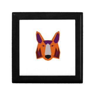 Design  fox on white gift box