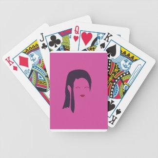 Design geisha Ethnic pink Bicycle Playing Cards
