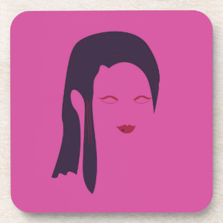Design geisha Ethnic pink Coaster