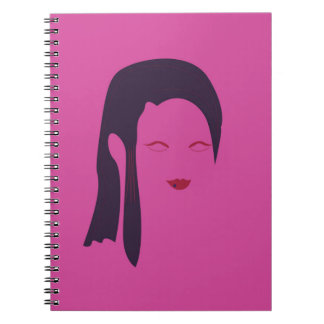 Design geisha Ethnic pink Notebook