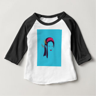 Design Geisha on blue Baby T-Shirt