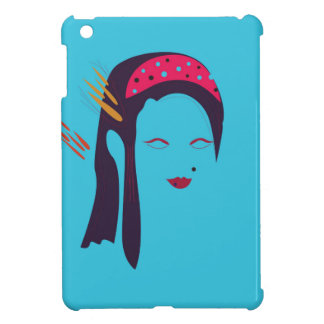 Design Geisha on blue iPad Mini Cases