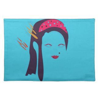 Design Geisha on blue Placemat