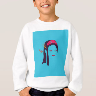 Design Geisha on blue Sweatshirt