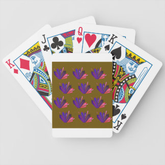 Design gems on blue bicycle playing cards