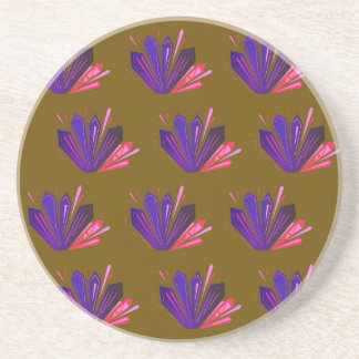 Design gems on blue coaster