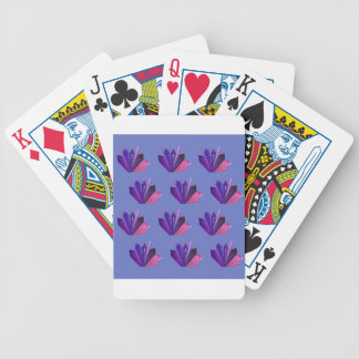 Design gems on blue edition bicycle playing cards