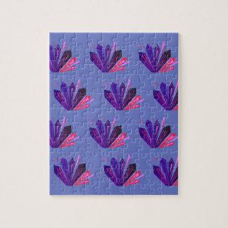 Design gems on blue edition jigsaw puzzle