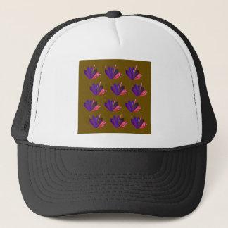 Design gems on blue trucker hat