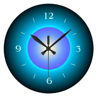 Design Green/Aqua/Purple>Wall Clock