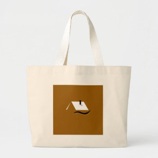 Design home gold white large tote bag