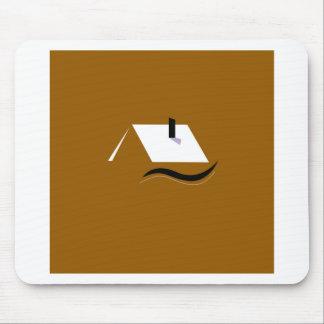 Design home gold white mouse pad