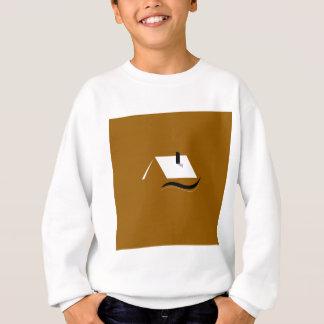 Design home gold white sweatshirt