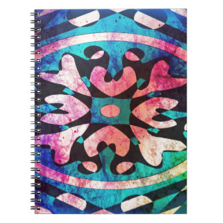 Design in colorful background notebooks