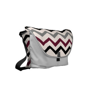 design in zig zag courier bag
