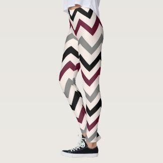 design in zig zag leggings