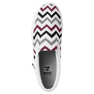 design in zig zag Slip-On shoes