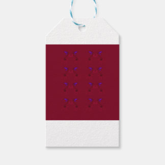 Design lace Ethno  Red Gift Tags