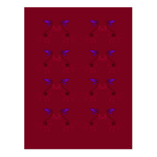 Design lace Ethno  Red Postcard