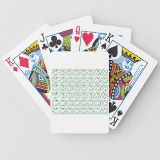 Design leaves edition green white bicycle playing cards