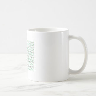 Design leaves edition green white coffee mug