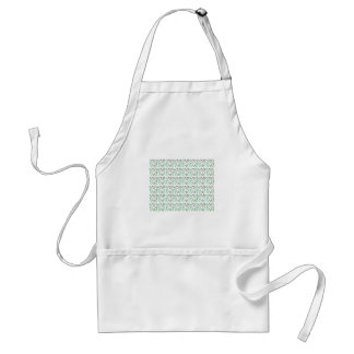 Design leaves edition green white standard apron
