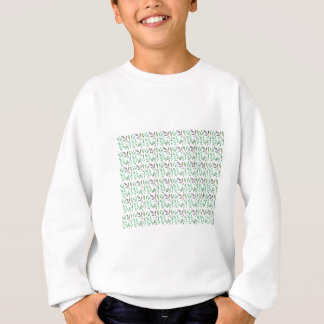 Design leaves edition green white sweatshirt