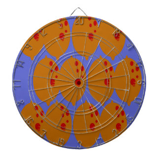 Design lemons gold on blue dartboard