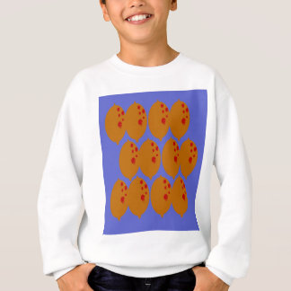Design lemons gold on blue sweatshirt