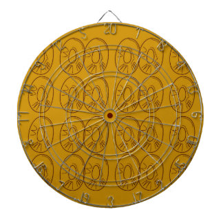 Design lemons gold vintage dartboard