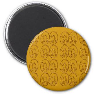 Design lemons gold vintage magnet